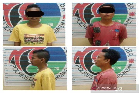 Polresta Banjarmasin tangkap dua kurir sabu-sabu di pangkalan ojek