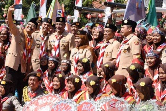 Gubernur Jatim dukung Program Pramuka Prasiaga