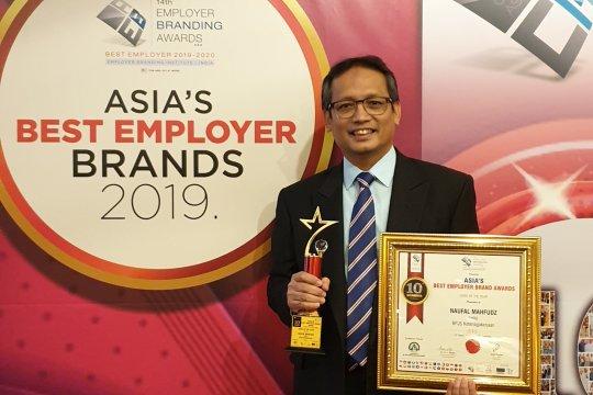 BPJS-TK raih tiga Asia's Best Employer Brand Award 2019 di Singapura