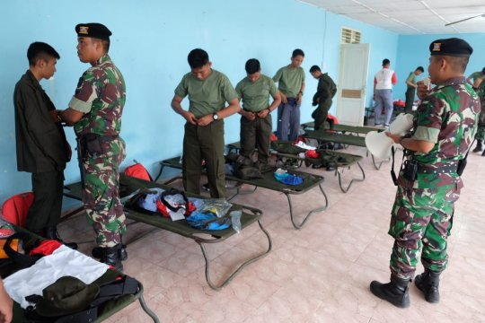 Kodam I/Bukit Barisan bagikan seragam militer kepada peserta SMN