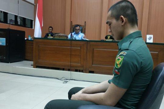Oknum TNI terdakwa pembunuhan bersaksi di persidangan sambil menangis