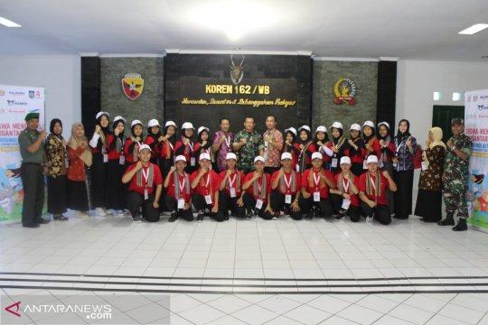 Siswa Mengenal Nusantara asal Bengkulu sambangi Korem 162/WB