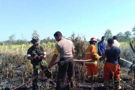 TNI-Polri berhasil padamkan kebakaran lahan di Sumbawa