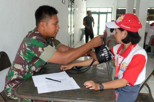 Sebelum pelatihan bela negara, 23 peserta SMN diperiksa kesehatannya