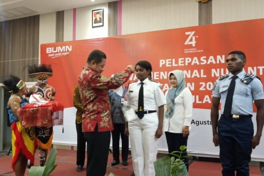 Peserta SMN Papua berangkat ke Makassar