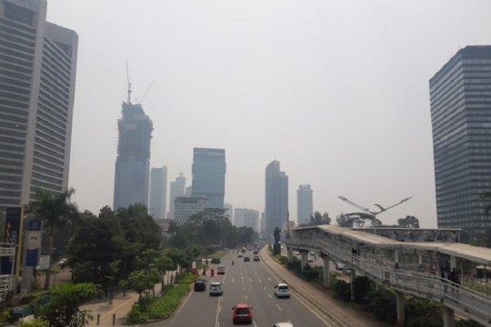 Polusi udara di Jakarta saat malam HUT RI menurun