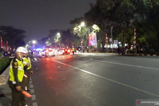 Jelang Renungan Suci di TMP Kalibata Lalu lintas terpantau lancar
