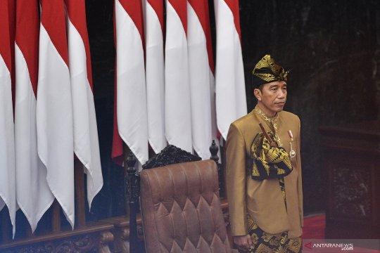 Presiden kenakan pakaian adat Sasak saat sidang DPR-DPD RI