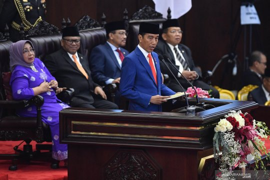 Presiden Jokowi sampaikan pidato Nota Keuangan dan APBN 2020