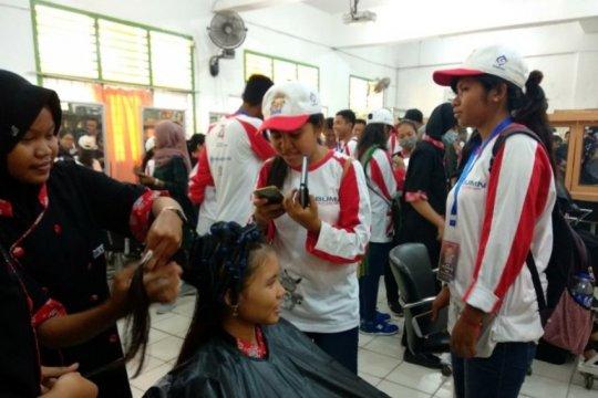 SMN NTT saksikan praktik perawatan kecantikan pelajar SMKN 4 Jambi