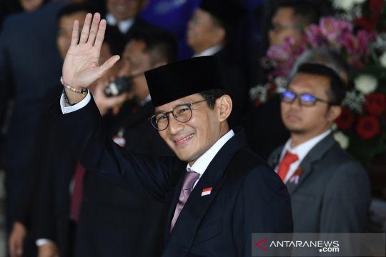 Sandiaga Uno tiba di Komplek Parlemen untuk menghadiri Sidang Tahunan MPR