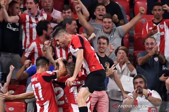 Messi absen, Barcelona tersungkur di kandang Bilbao dalam laga pembuka
