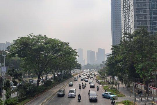 Pegadungan jadi wilayah terpolusi di Jakarta Sabtu siang ini