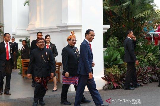 Presiden jadi inspektur upacara penurunan bendera Merah Putih