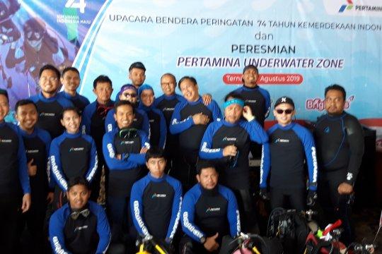 Pertamina peringati HUT Ke-74 RI di bawah laut Ternate