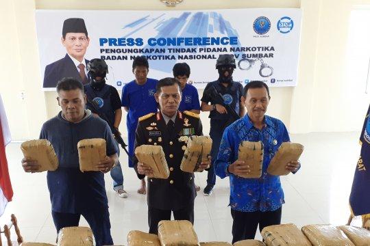 HUT ke-74 RI, BNNP Sumbar ungkap peredaran 200 kilogram narkoba