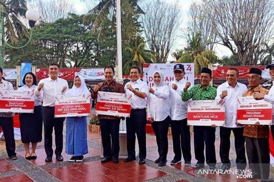 4 BUMN donasi Rp2,35 miliar di Lombok, bedah rumah hingga beasiswa