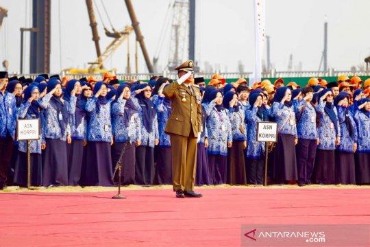 Salah sebut usia Indonesia warnai upacara di Pulau Reklamasi