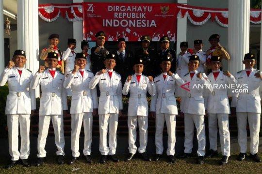 Media asing liput upacara HUT RI di Kota Kinabalu