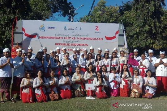 ITDC berbusana adat Bali gelar upacara HUT Kemerdekaan RI