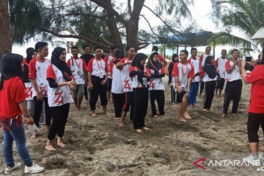 Peserta SMN Sulsel kunjungi wisata Pantai Hamadi Jayapura