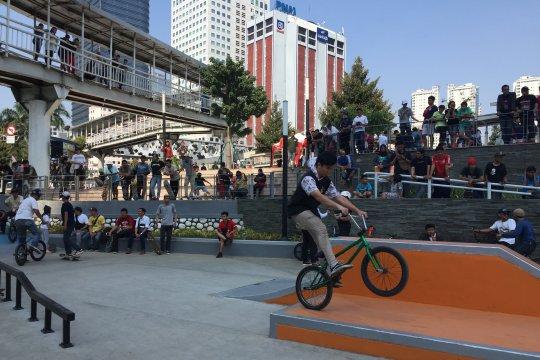 """Pemprov DKI bangun """"skatepark"""" berstandar internasional di Pasar Rebo"""