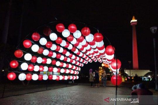 Sambut HUT RI, Monas hadirkan festival lampu hias