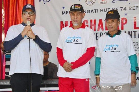 Gerakan nasional menghadap laut dihelat di Pantai Muaro Lasak Padang
