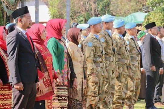 Pasukan perdamaian Indonesia ikuti upacara HUT RI di Afrika