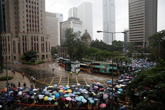 Protes massa direncanakan di Hong Kong setelah aksi damai akhir pekan
