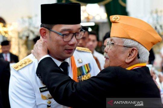 Ridwan Kamil pimpin upacara HUT ke-74 Provinsi Jabar