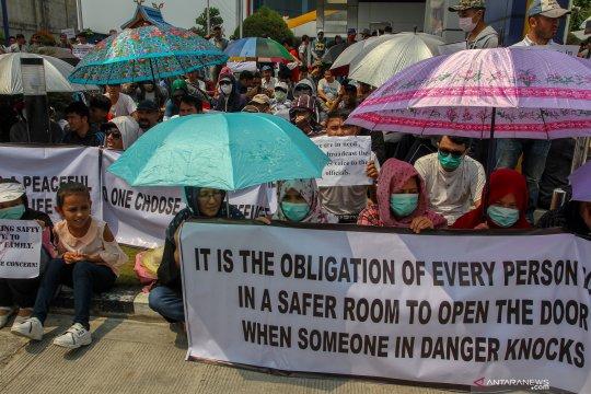 Demo imigran di Pekanbaru