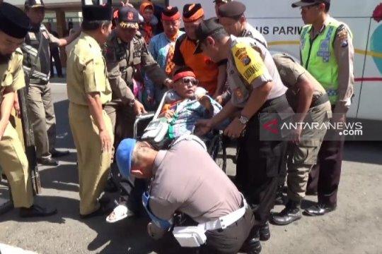 Jamaah haji Kota Madiun tiba di Tanah Air dengan jumlah utuh