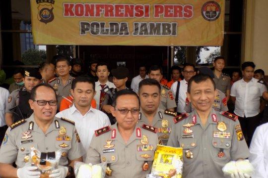 Polda Jambi gagalkan pengiriman 2,2 kg sabu ke Palembang