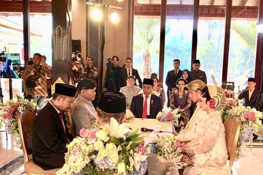 Jokowi-JK jadi saksi pernikahan anak Bambang Soesatyo