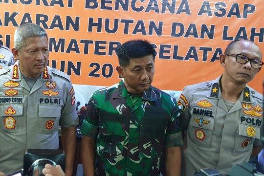 Atasi karhutla, shalat istisqo digelar prajurit TNI Korem Gapo