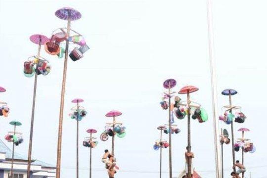 Panjat pinang massal ramaikan HUT ke-74 RI di Batanghari