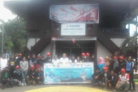 Peserta SMN Jawa Tengah kunjungi Perum Damri Manado