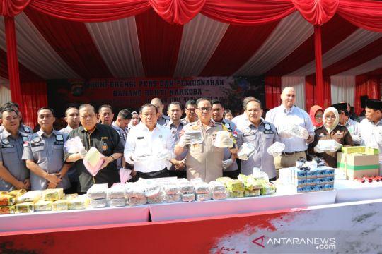 Polda Metro Jaya gelar pemusnahan barang bukti narkoba