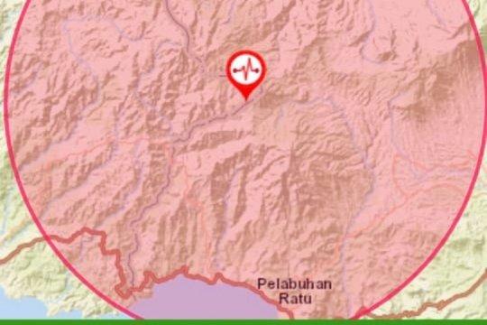 Gempa Sukabumi akibat sesar yang aktif
