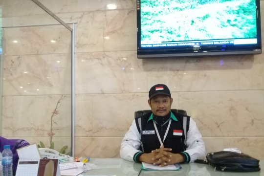 Jamaah haji asal Bangka tiba di Embarkasi Palembang pada 23 Agusrus