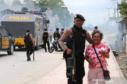 Polri-TNI amankan sejumlah obyek strategis di Timika