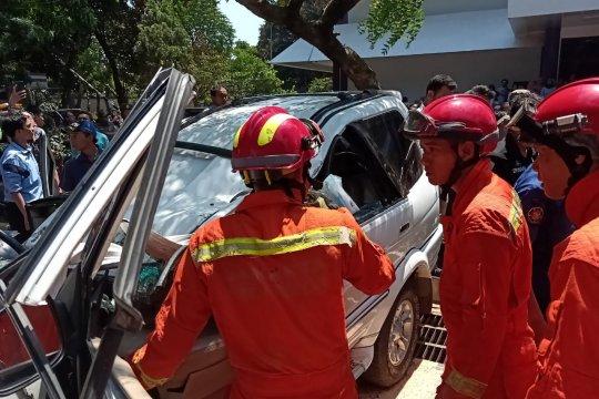 Angin kencang diduga sebabkan pohon tumbang di Universitas Pancasila