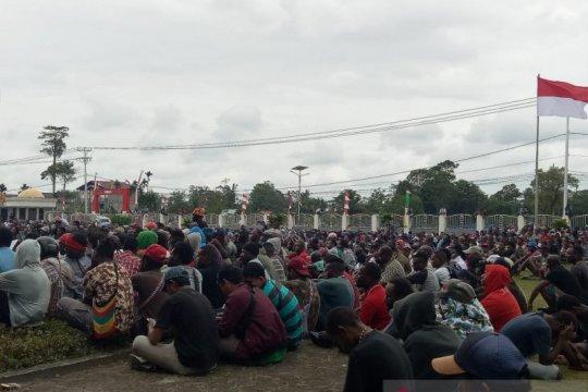 Polisi amankan 45 pelaku tindakan anarkis di Timika