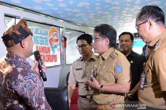 """Bus KPK """"Jelajah Negeri Bangun Anti  Korupsi"""" tiba di Badung"""