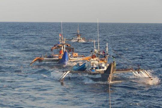 KKP tangkap tiga kapal ilegal asal Filipina di Laut Sulawesi