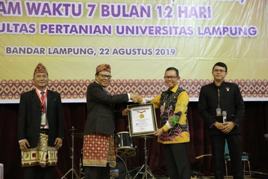 Anugerah 26 paten Unila dari MURI mendapat apresiasi