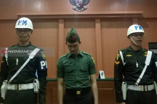 Oknum TNI terdakwa mutilasi menangis dituntut penjara seumur hidup