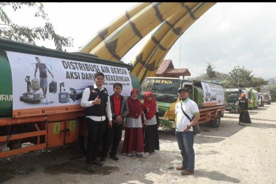 ACT Lampung konvoi water tank salurkan air bersih