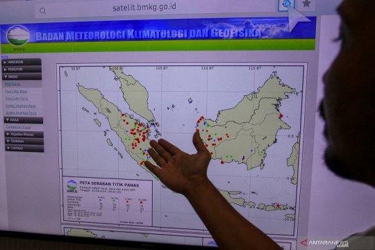 Dua ada di Riau, BMKG deteksi ada 16 titik panas di Pulau Sumatera